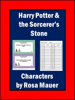 Harry Potter and the Sorcerer's Stone Character Clue Task Cards