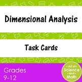 Task Cards - Dimensional Analysis - Distance Learning