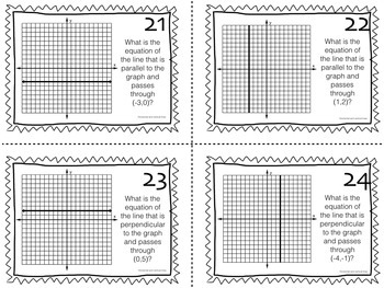 Task Cards: Horizontal and Vertical Lines