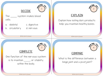 Human Body: Part 1 - Life Science Task Cards