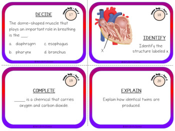 Human Body: Part 2 - Life Science Task Cards
