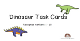 Growing BUNDLE Task Cards Identify Draw Numbers 1-20
