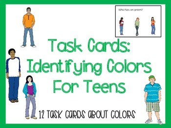 Task Cards: Identifying Colors for Teens (Autism and Special Education)