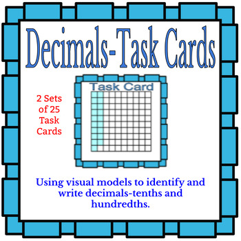 Task Cards--Identifying and Writing Decimals--10ths and 100ths