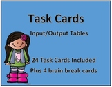Task Cards-Input Output Tables 3-5