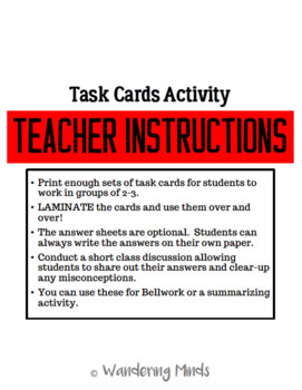 Task Cards-Lab Safety