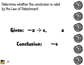 Task Cards: Law of Detachment and Law of Syllogism (Deductive Reasoning)