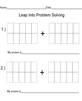 Task Cards Leap Into Problem Solving - Addition Word Problems