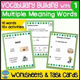 Homonyms Worksheets 1 | Vocabulary Activities | Task Cards