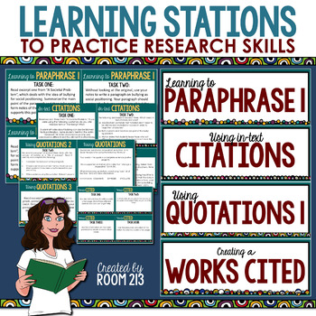 Research Skills Stations (MLA)