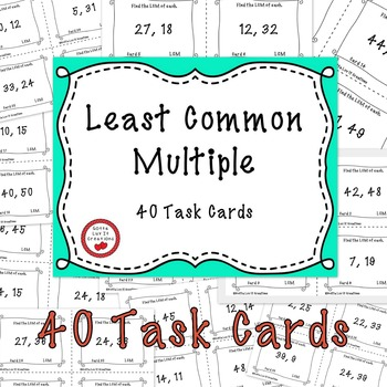Free Download Task Cards Least Common Multiple