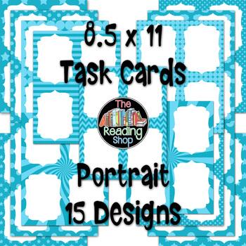 Task Cards - Light Blue Patterns - Portrait and Landscape Orientation