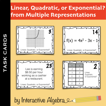 Task Cards: Linear, Quadratic, or Exponential?
