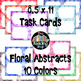 Task Cards - Liquid Abstracts & Floral Abstracts