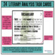Task Cards - Literary Analysis (use with ANY novel or short story)