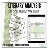Digital Task Cards - Literary Analysis for any story/novel