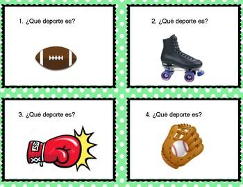 """Task Cards: """"Los Deportes"""""""