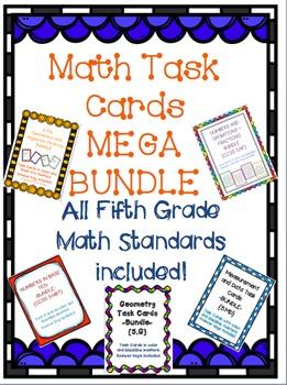 Task Cards: MEGA Bundle [All 5th Grade Math Standards]