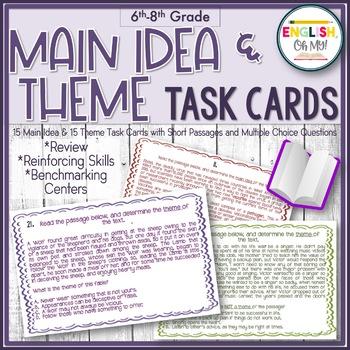 Task Cards-Main Idea & Theme