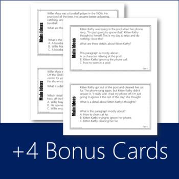 Main Idea Task Cards (STAAR Prep)