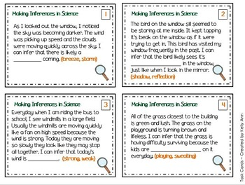 Inferencing in Science Task Cards