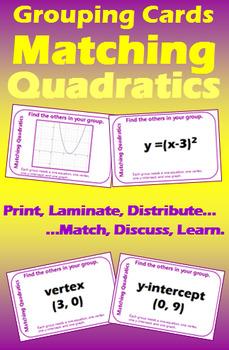 Grouping Cards - Matching Quadratics I