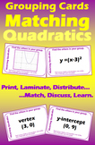 Grouping Cards - Matching Quadratics I