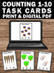 Counting Activities Kindergarten Task Cards Summer School