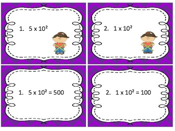 Task Cards Math;Moving the Decimal Point Multiplying or Dividing Power of Ten