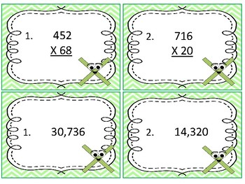 Task Cards Math;Multiply Whole Numbers Up to Three Digits by Two Digits