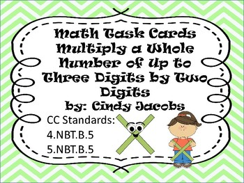 Task Cards Math;Multiply Whole Numbers Up to Three Digits