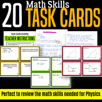 Task Cards: Math Skills