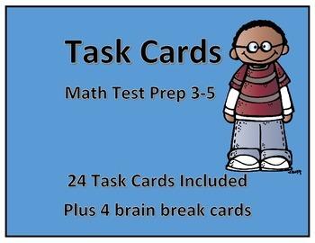 Task Cards-Math Test Prep 3-5