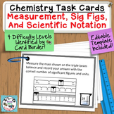 Chemistry Task Cards Measurement, Significant Figures, Sci