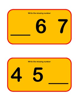 Task Cards: Missing Numbers