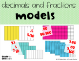Model Fractions and Decimals Task Cards 5.nbt.1