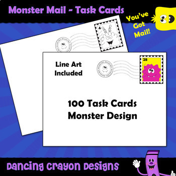 Task Cards: Monster Mail - 100 Blank Task Card Templates