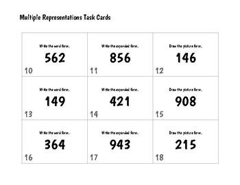 Task Cards: Multiple Representations