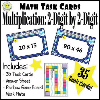 Task Cards - Multiplication: 2 Digit by 2 Digit