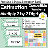 Task Cards - Multiplication 2 Digit by 2 Digit - Estimation by Compatible Number