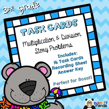 Task Cards - Multiplication and Division Story Problems Freebie