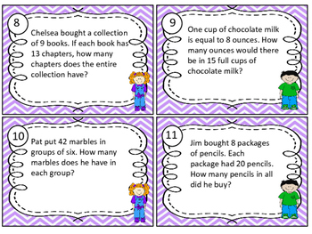 Task Cards Multiplication and Division Word Problems