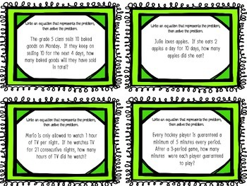 Task Cards : Multiply and Divide