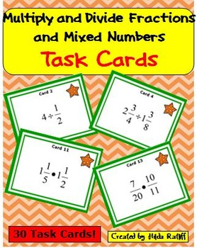 Task Cards - Multiply and Divide Fractions and Mixed Numbers