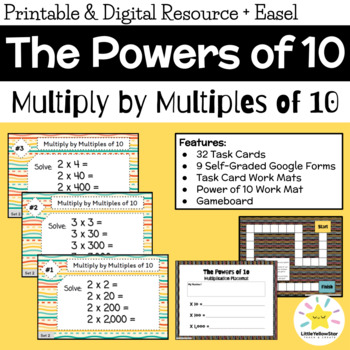 Task Cards - Multiply by Multiples of 10, 100, and 1000 {Set 2}