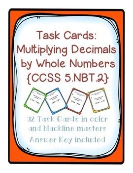 Task Cards: Multiplying Decimals to Hundredths by 1-digit