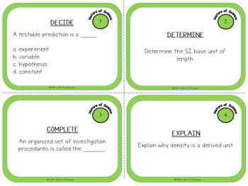 Nature of Science: Task Cards