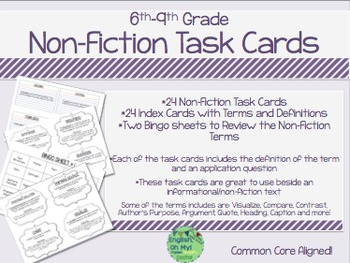 Informational, Non-Fiction Task Cards