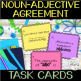 Task Cards - Noun-Adjective Agreement in Spanish - Avancemos 1 U1 L1