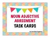 Noun Adjective  Agreement Task Cards